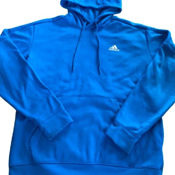 ADIDAS blue hooded sweatshirt size Medium